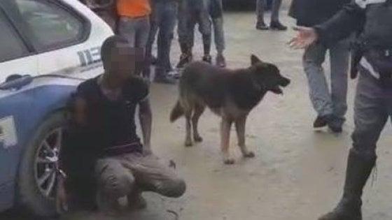 Foggia, spunta video dell'arresto del migrante ammanettato all'auto della polizia