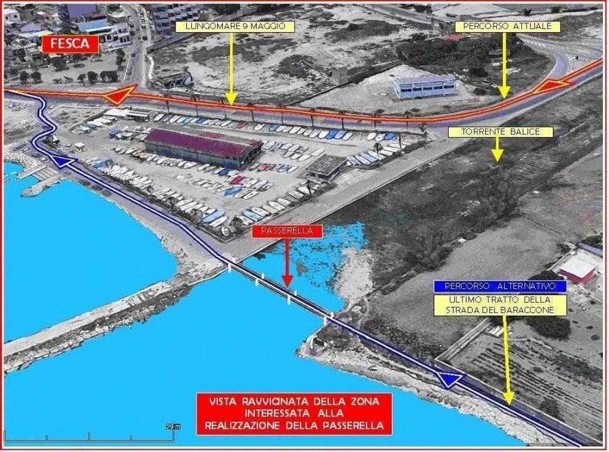 Bari, un ponte ciclabile per unire il lungomare: il progetto è dei ciclisti