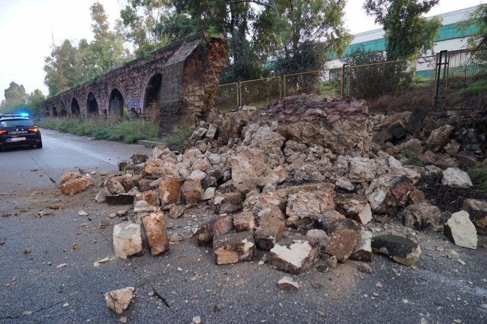 Taranto, così è crollato l'antico Acquedotto del Triglio