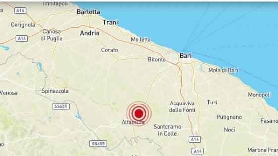 Terremoto a Bari e provincia: magnitudo 3,5 con epicentro ad Altamura. Nessun ferito né danni