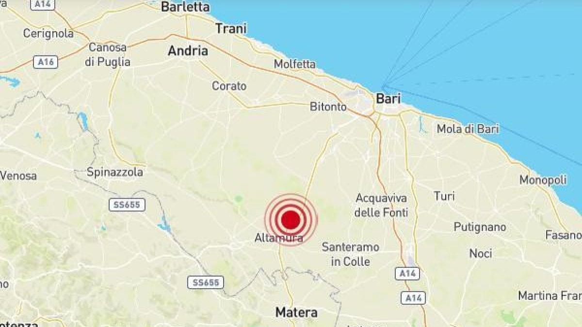 Terremoto en Bari y provincia: magnitud 3.5, el epicentro de Altamura. Sin lesiones ni daños.