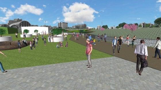 Bari, ecco come sarà il parco dell'ex Fibronit: spazi per lo sport, ludoteca hi-tech e biblioteca