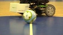 Il calcio senza barriere su carrozzine elettriche