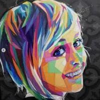 Nadia Toffa, il ritratto pop è un trionfo di colori contro il cancro