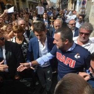 """Bari, il ministro Salvini sul quartiere Libertà: """"Reati in calo dopo l'aumento dei controlli"""""""