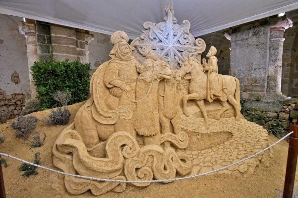Salento, il presepe di sabbia è un'opera d'arte