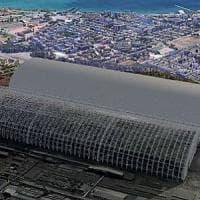 Taranto,  completato primo arco di copertura dei parchi minerali ex Ilva