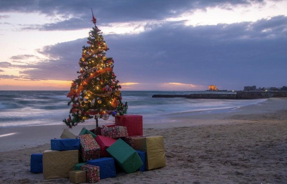 Immagini Natale Mare.Salento L Albero Di Natale E In Riva Al Mare 1 Di 1