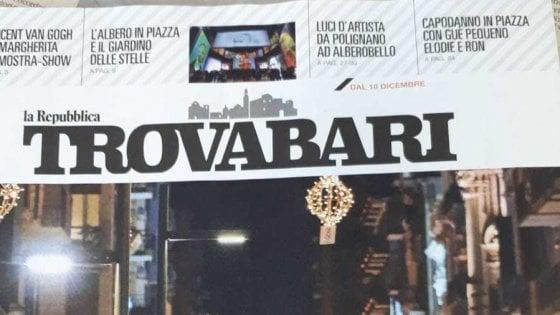 TrovaBari gratis in edicola con Repubblica: una guida per vivere il Natale in Puglia