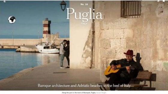"""""""Spiagge e Barocco"""", il New York Times sceglie la Puglia tra le 52 mete da visitare nel 2019"""