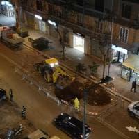 Bari, voragine in viale Orazio Flacco e traffico rallentato