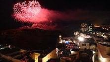 I fuochi d'artificio    illuminano i Sassi