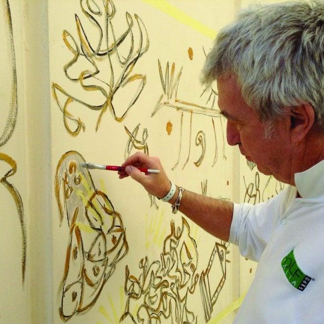 La Grotta dei cervi di Porto Badisco celebrata in un murale al Cairo