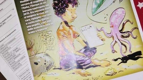"""Bari, nelle pagelle la prof allega la vignetta di Makkox per lo studente del Mali annegato: """"I voti cuciti addosso"""""""