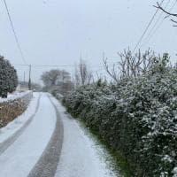 Maltempo, in Puglia torna la neve: imbiancate Alberobello, Noci e Martina