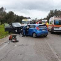 Brindisi, tre vittime in uno scontro frontale: muoiono una 40enne e una