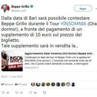 Tweet di Beppe Grillo: