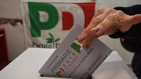 """Primarie Pd, oltre 80mila al voto in Puglia: Zingaretti al 65 per cento. Emiliano: """"Vince comunità senza guru"""""""