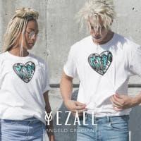 """Matera2019, un cuore sulla t-shirt Yezael contro il femminicidio. Cruciani: """"Io vittima di bullismo perché femminile"""""""