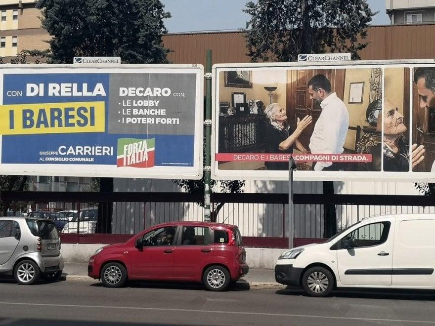 """Comunali a Bari, botta e risposta a colpi di 6x3: """"Decaro sta con le lobby"""" ma è accanto con un'anziana"""