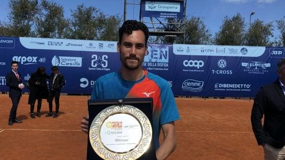 Tennis, a Barletta la prima volta di un italiano: Gianluca Mager vince il 'Città della Disfida'