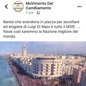 """""""Folla per Di Maio"""", ma è la festa di San Nicola. Sostenitori M5s inciampano nella fake news"""