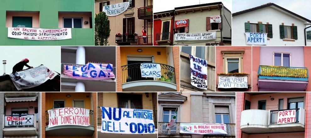 Salvini in tour al Sud: da Campobasso a Foggia gli striscioni inseguono il vicepremier