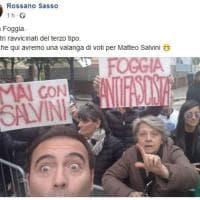 """Foggia, il deputato leghista deride i manifestanti antiSalvini: """"Incontri ravvicinati del terzo tipo"""""""