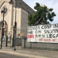 Salvini a Bari, comizio in via Sparano.