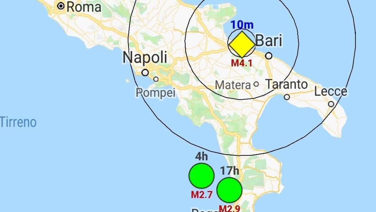 Terremoto in Puglia, scossa di 3,9 gradi a Barletta. Anche a Bari scuole e uffici evacuati