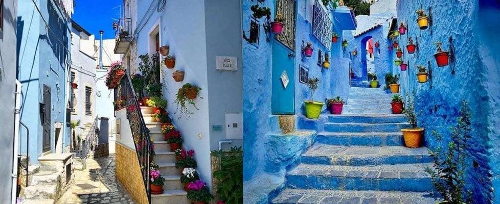 In Puglia c'è una città blu come quelle di India e Marocco: un'architetta svela il filo che le lega