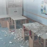 Bari, crolla l'intonaco all'asilo nido: i bambini non erano in classe