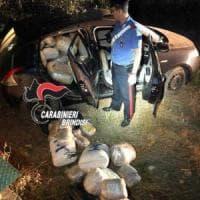 Brindisi, oltre 3 quintali di marijuana in un'auto abbandonata in campagna