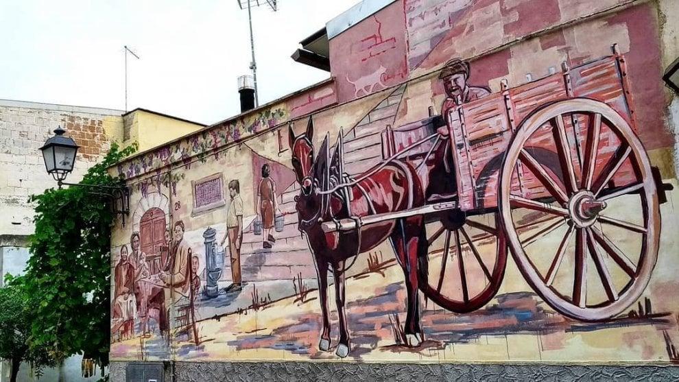 Il murale di Piskv per celebrare la bellezza e le tradizioni di Canosa