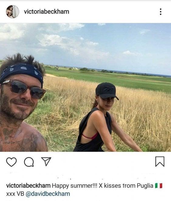 La vacanza dei Beckham in Puglia: David e Victoria stregati dalla campagna e dal cibo