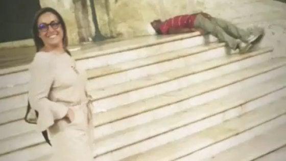 Ostuni, coordinatrice della Lega in posa su Instagram deride un uomo svenuto per strada