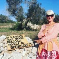 Salento, Helen Mirren regina dell'ambiente: il suo esempio fa scuola. Lei sui social: grazie