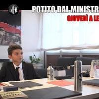 Fridays for future, Potito Ruggiero mini Iena mette alle strette il ministro dell'Ambiente...