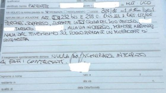 Bari, lancia mozzicone di sigaretta dal finestrino: all'automobilista multa da 100 euro