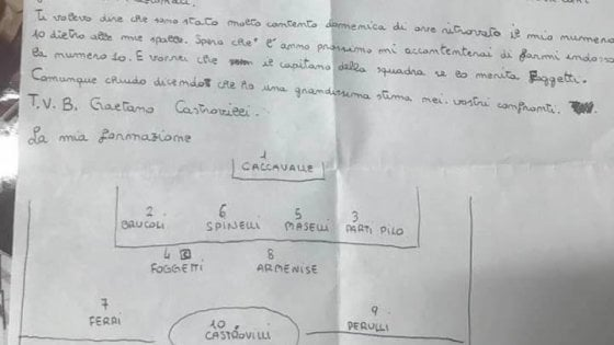 """""""Caro mister, mi dispiace lasciarti"""": la lettera di Castrovilli prima del grande salto nel calcio"""