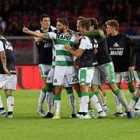 Il Lecce beffato nel finale: 2-2 in casa con il Sassuolo