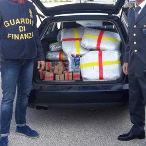 Bari, in auto con droga per 500 mila euro: una coppia bloccata dalla finanza sulla statale 16