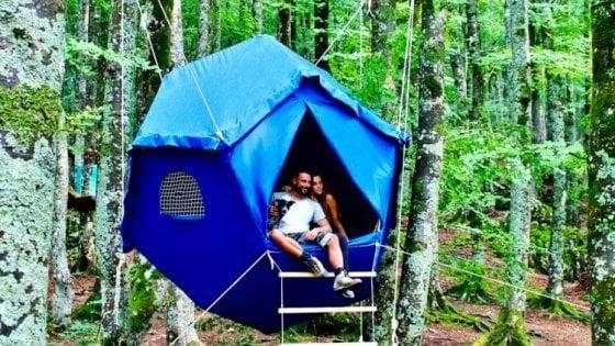 Dormire sugli alberi, cullati all'interno di un 'Atomo': nel bosco di Biccari (Foggia) presto sarà possibile