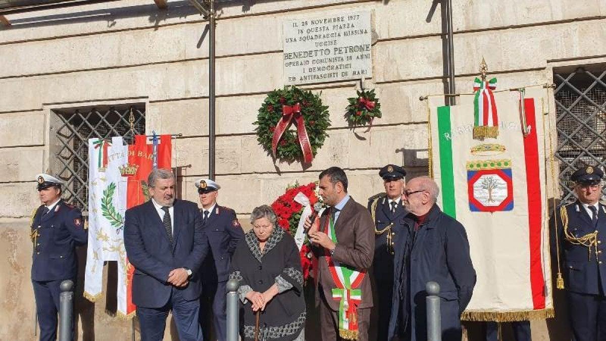"""Carbonara Di Bari Storia bari ricorda benedetto petrone, il sindaco decaro: """"la sua è"""