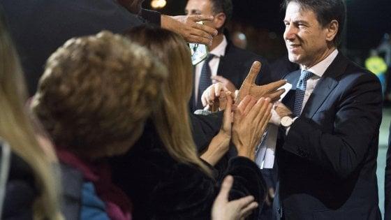 Il premier Conte a Manfredonia (Foggia): inaugurata la vetreria sorta dalle ceneri dell'ex Sangalli