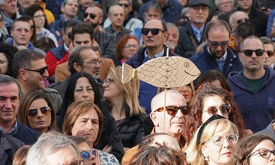 """A Taranto 2 mila Sardine per il debutto in Puglia: """"Cerchiamo rappresentanza per le regionali"""""""