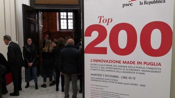 Top200, all'Università di Bari in vetrina le imprese d'eccellenza della Puglia