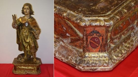 Salento, scoperta statua lignea rinascimentale rubata nel 19