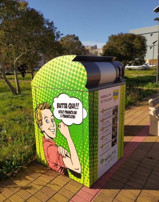 Putignano, la pop art contagia l'isola ecologica