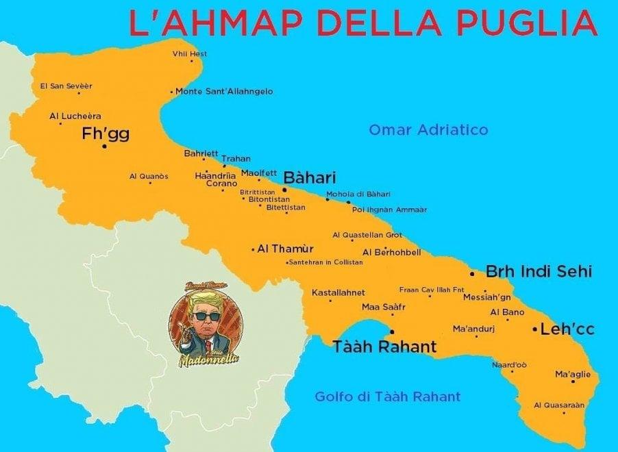 Cartina Puglia Cellino San Marco.Dov E L Iran Per Gli Americani E In Puglia La Mappa E Da Ridere La Repubblica